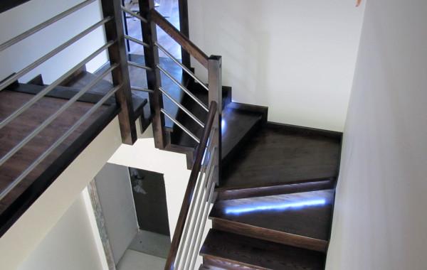 Schody na beton, jesionowe – Sochaczew