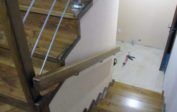 Schody na beton CNC, po skanowaniu