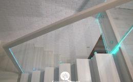 Schody-Q jesion bielony balustrada szyba dokrecana Grudziadz (3)