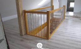 Schody Q.pl Sochaczew Debowe proste , balustrada inox 16mm (3)