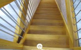 Schody Q.pl Sochaczew Debowe proste , balustrada inox 16mm (7)