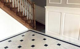 Stairs Q Londyn Jesionowe stylowe , rzezbione Omega tralka (4)