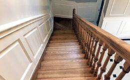 Stairs Q Londyn Jesionowe stylowe , rzezbione Omega tralka (7)